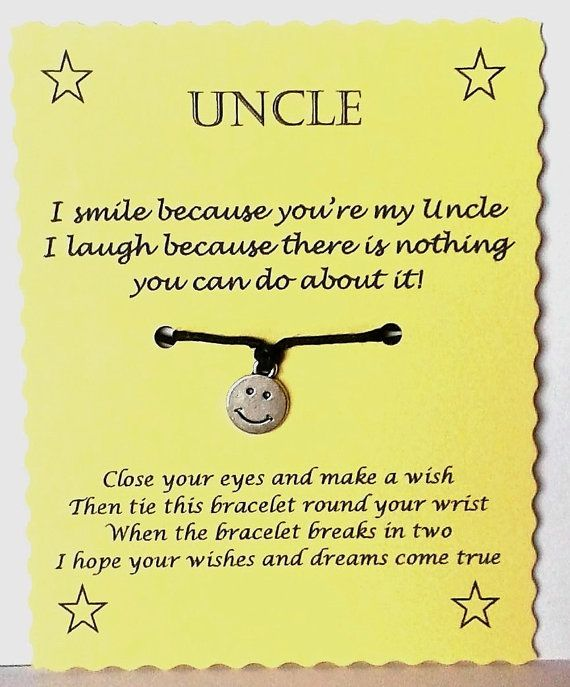 Uncle Gift Uncle Bracelet String Wish Bracelet By