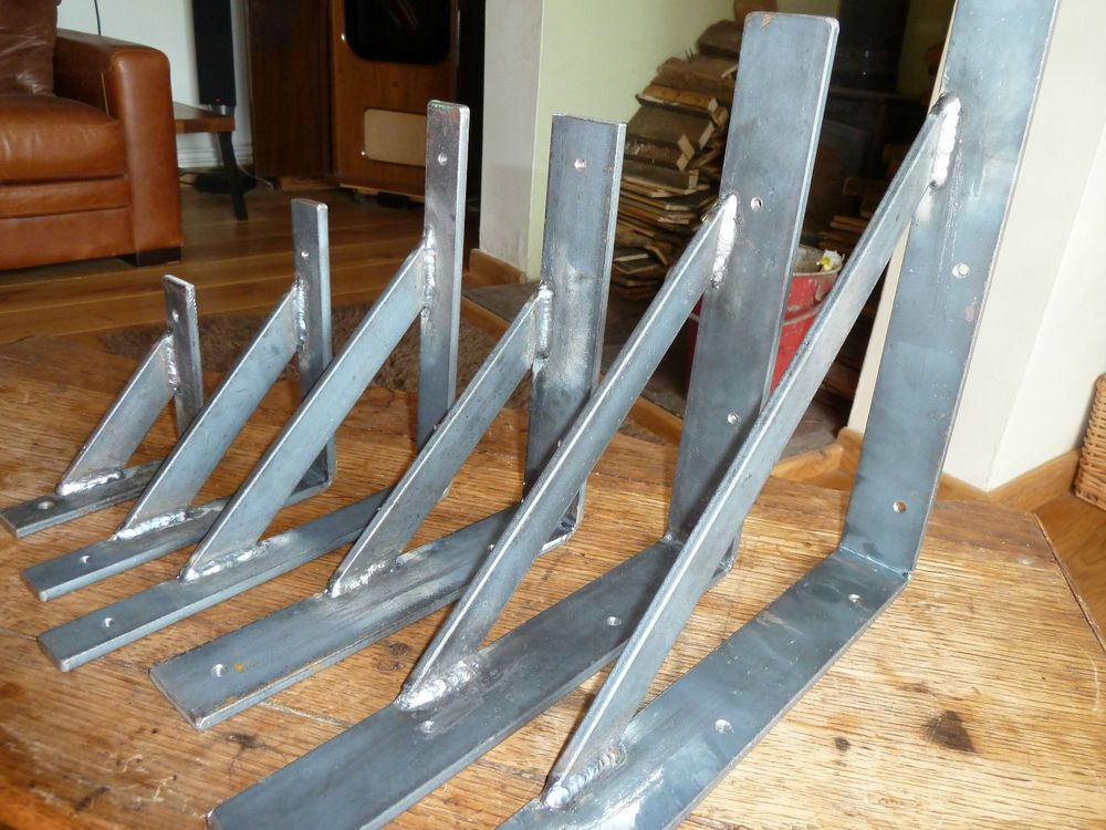 details about handmade mild steel wrought iron shelf on wall brackets id=43625