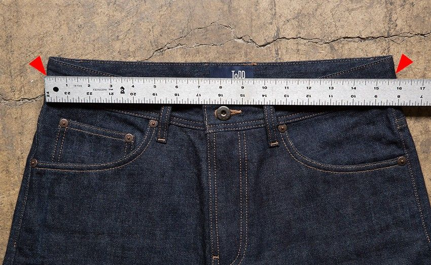 Measure the right jeans waist size Selvedge denim, Waist