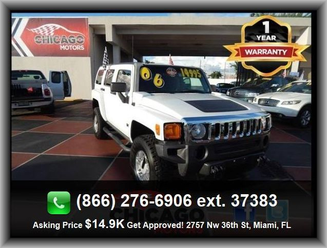 2006 Hummer H3 Base Suv Four Wheel Drive Skid Plate S Tachometer Cargo Area Light Front Headrests Adjustabl Transfer Case Four Wheel Drive Reading Light