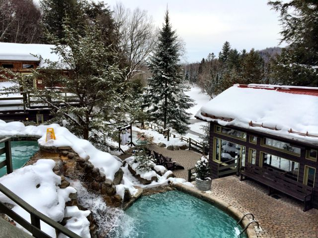 Scandinavian Spa In Mont Tremblant Canada Right By The Diablo River This Oasis Is Home To Hot Cold Options They Say That Y Mont Tremblant Spa Resort Spa