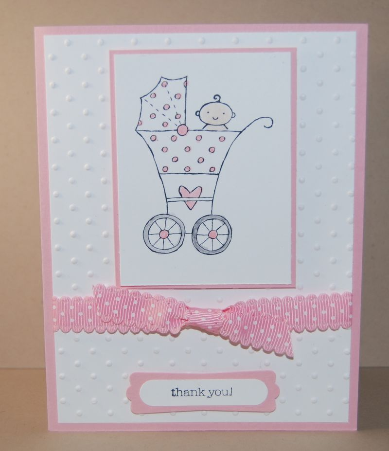 baby girl thank you cards stampin up | Baby Bundle Shower Thank You ...