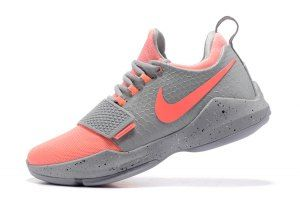 839a49f0b Men s Nike Air PG1 Paul George Cool Grey Pink 878628 006 Basketball Shoes