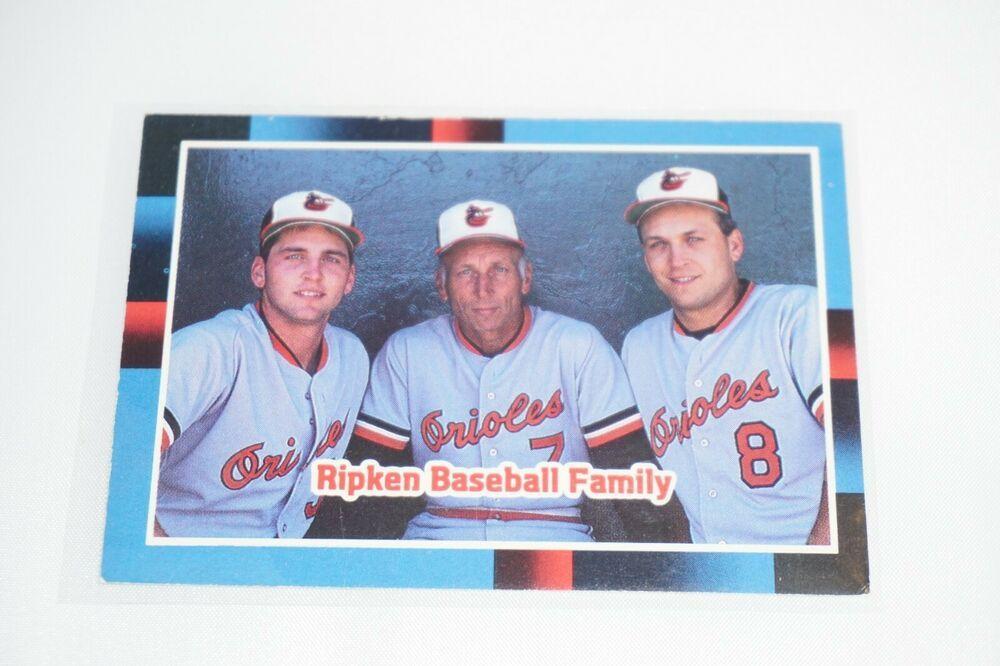 1987 ripken baseball family 625 donruss baseball card
