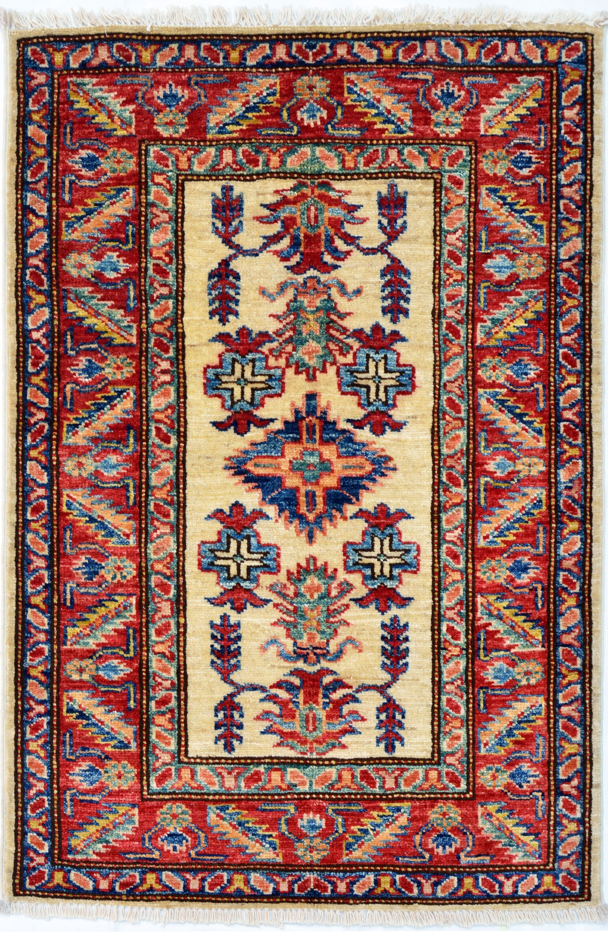 2x3 100 Hand Knotted Red Color Super Kazak Oriental Rug Etsy Traditional Style Rugs Modern Persian Rug Rugs
