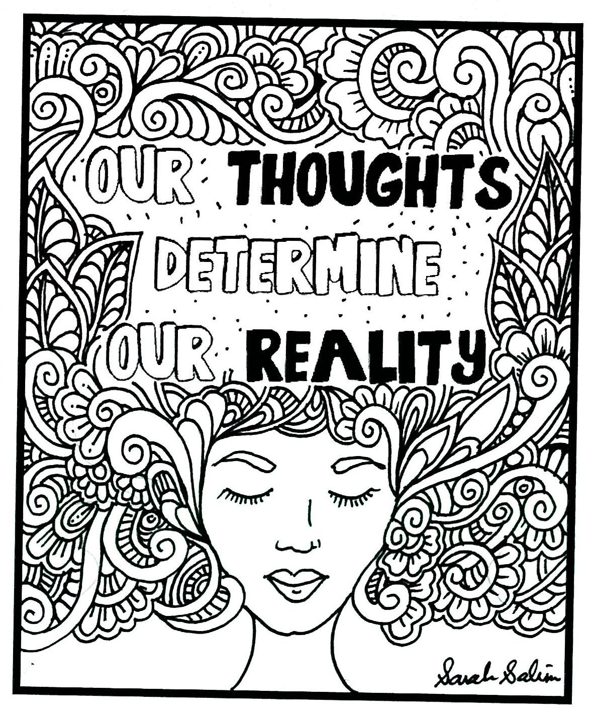 Mental Health Worksheet Coloring
