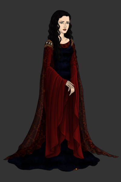 Arwen (Blood Red Dress) ~ by Vestal ~ created using the LotR ...