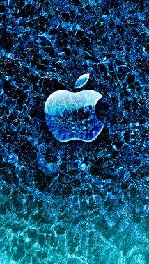 Ice Apple Iphone Wallpaper Apple Wallpaper Apple Wallpaper Iphone Blue Wallpaper Iphone