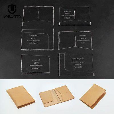 Passport Template Set Clear Acrylic Pattern Card Case Leathercraft - passport template