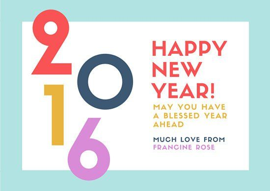 Colorful New Year Greeting Card  New Year Card Design Ideas