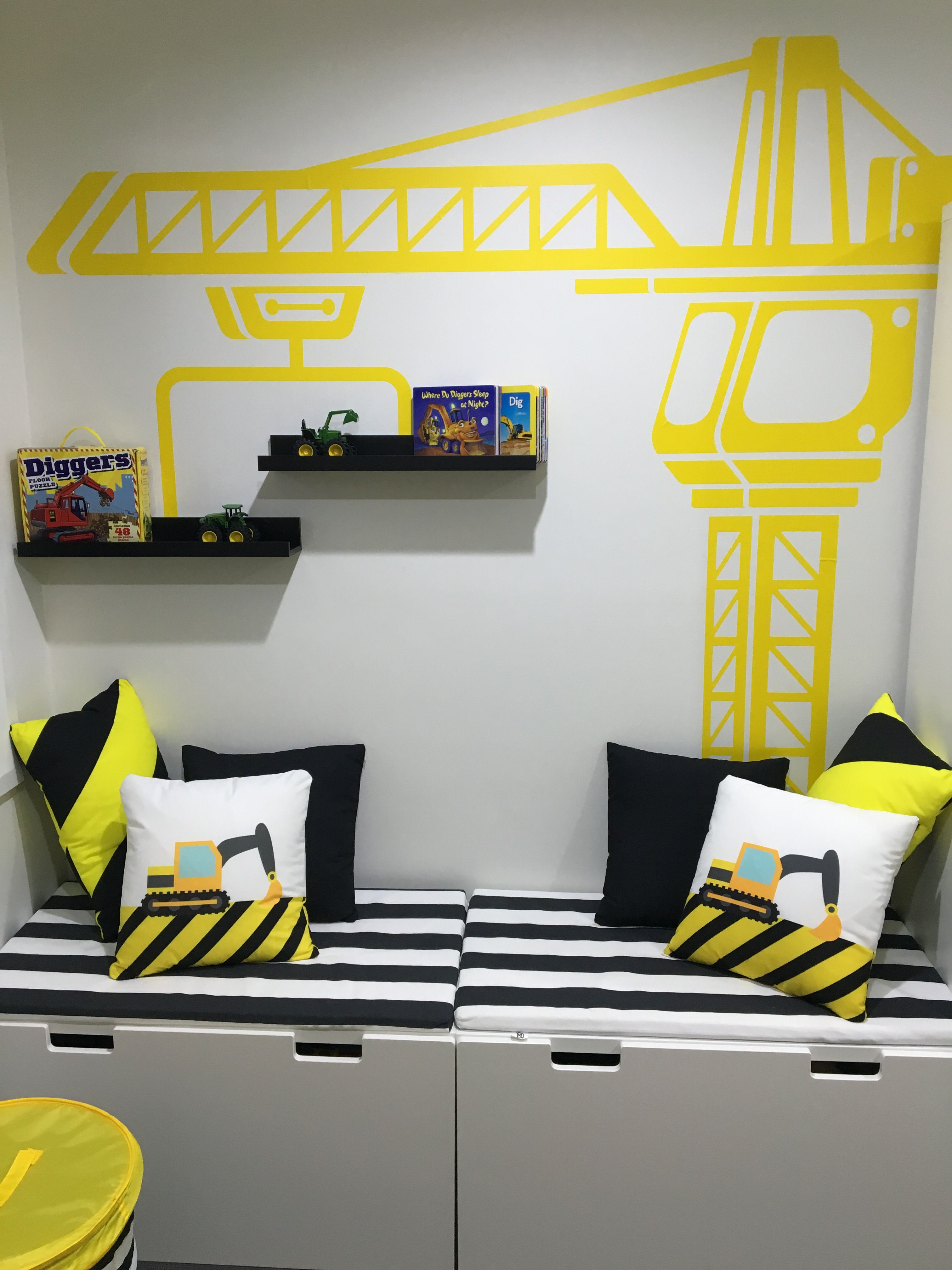 Digger theme room | Toddler boy room themes, Toddler rooms