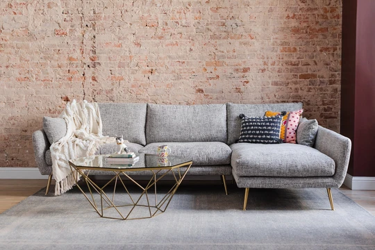 Harlow Sectional Sofa Edloe Finch Furniture Co Modern Sofa Sectional Sectional Sofa Mid Century Modern Sectional Sofa