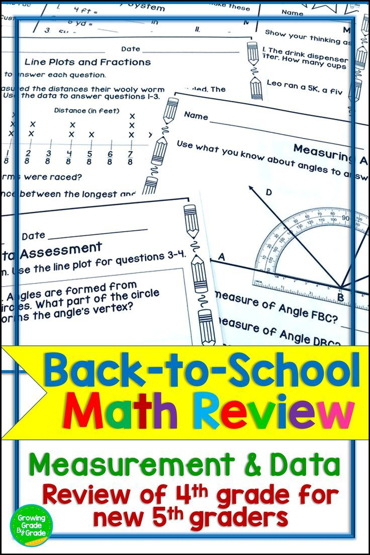 back to school math activities 5th grade 4 md creative teaching