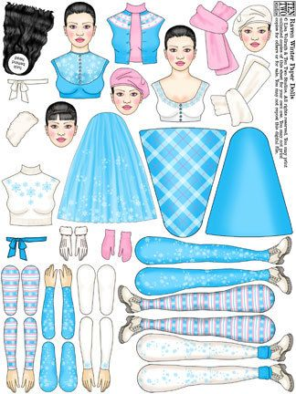 Raven Winter Paper Dolls