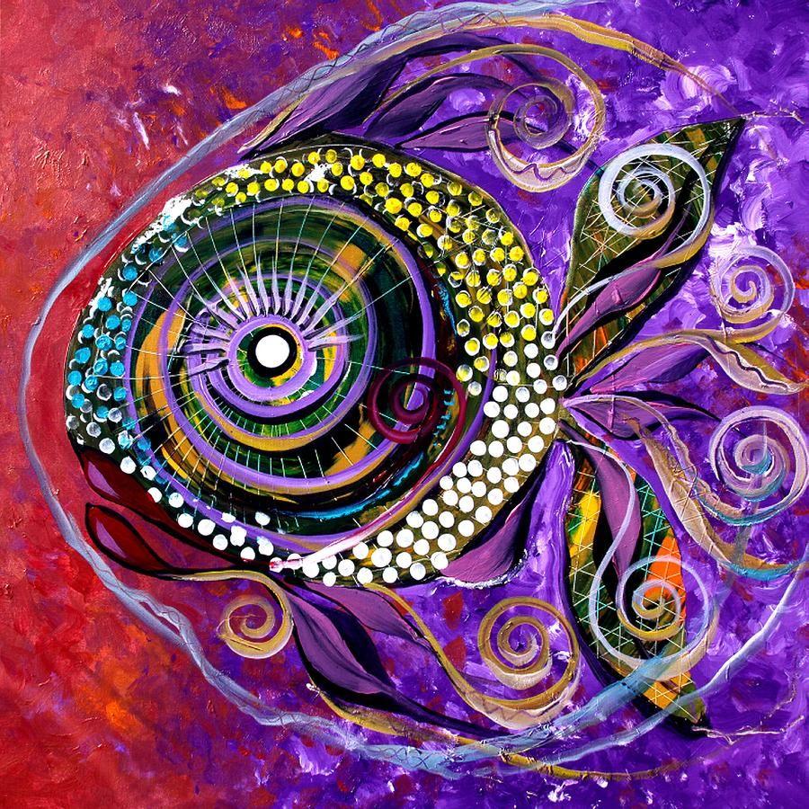 Felix murillo lleno de colores painting acrylic artwork fish art - Lady Fish Fish Art J Vincent Scarpace Artist Www Ipaintfish Com