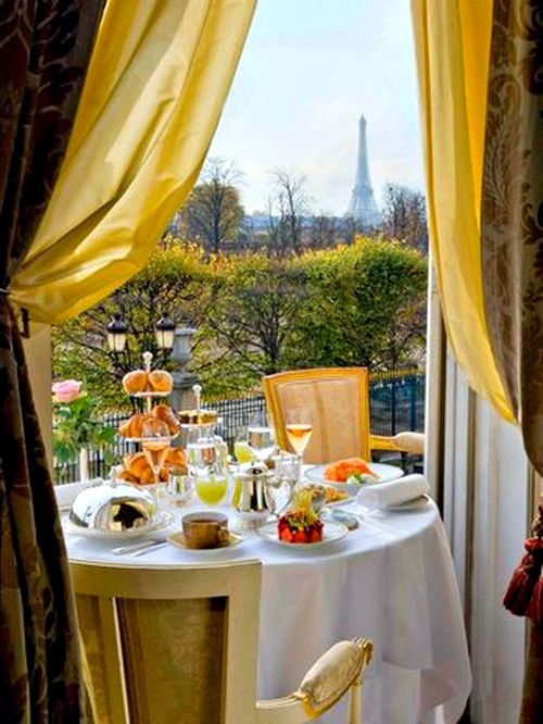 A Balcony. In Paris. In Autumn. With A View Of The Eiffel Tower.
