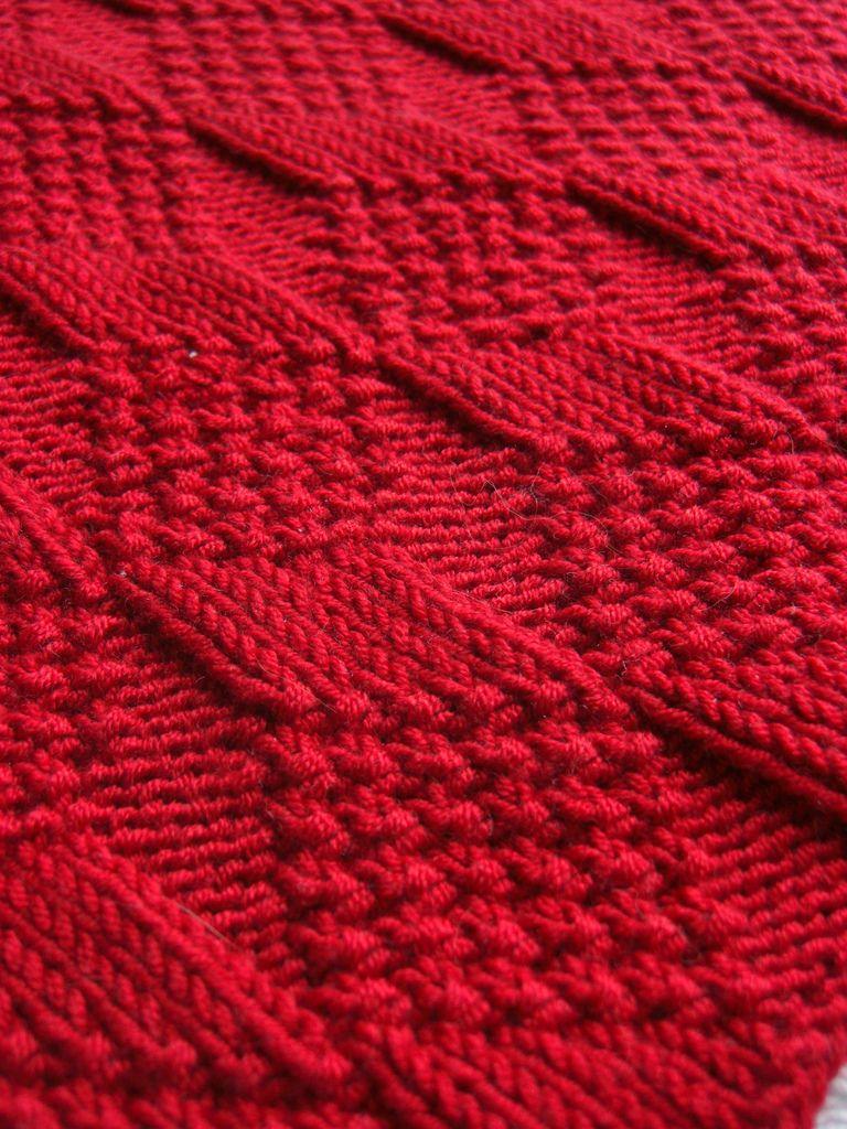 Moss Diamond and Lozenge Pattern   Knit patterns and Patterns