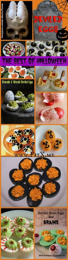 Halloween Deviled Eggs Ideas! #halloweendeviledeggs