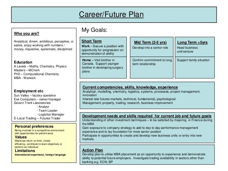 CareerFuture Planmy GoalsWho You AreAnalytical Driven