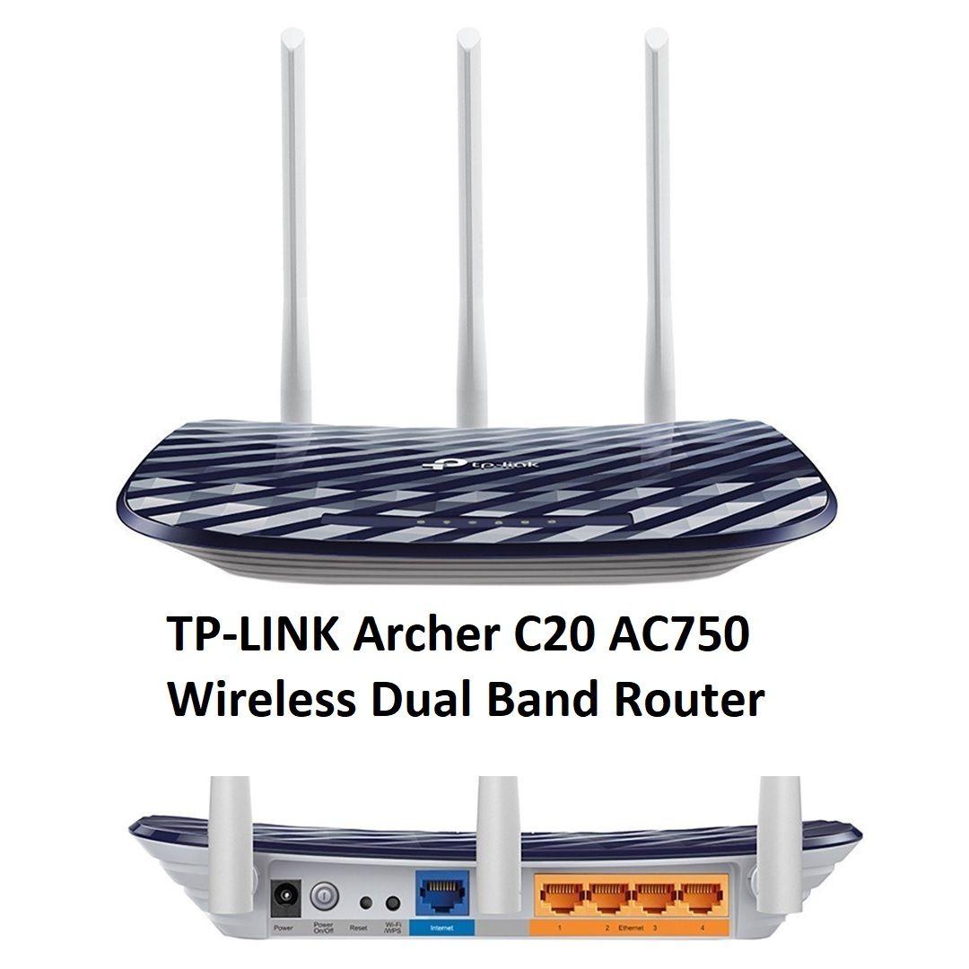 Tplink Archer C20 Ac750 Wifi Dual Band Router Access Point Ap