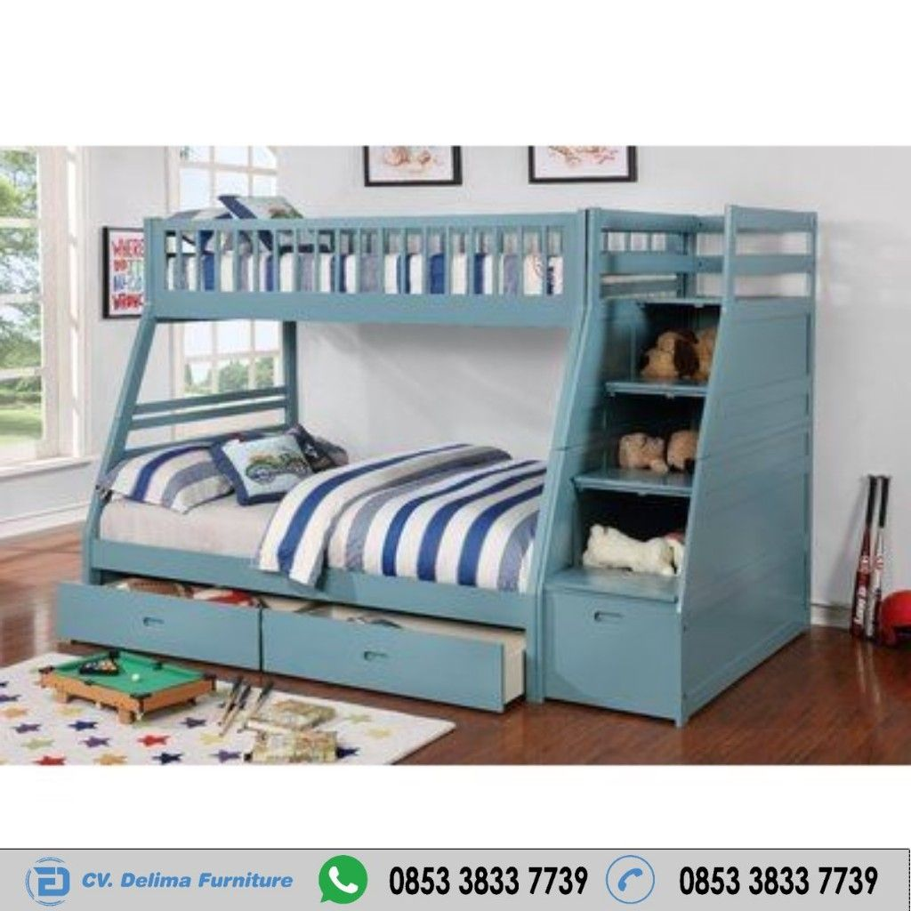 Tempat Tidur Tingkat Grey Harga Murah Cv Delima Furniture Toko