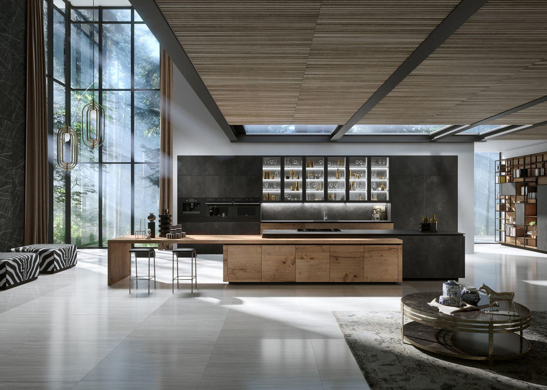 Best H01 Elegante Bespoke Luxury Modern Kitchen Featuring 640 x 480