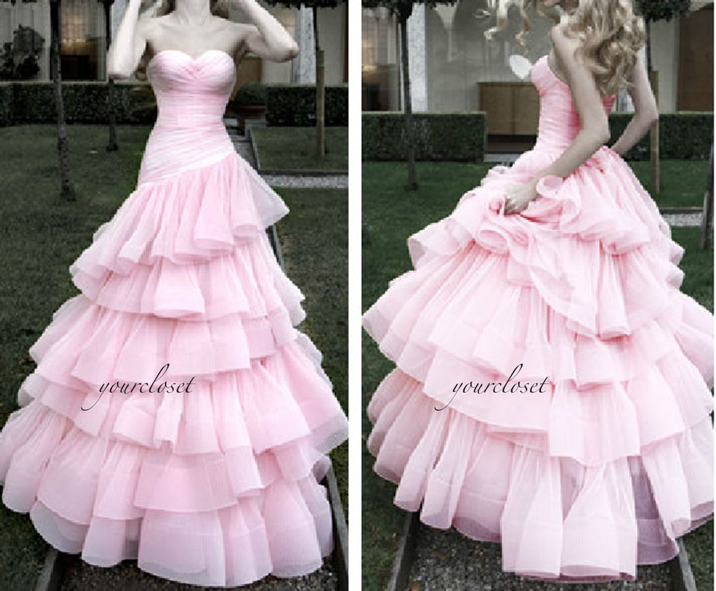 Elegant strapless tiered ball gown i wish i had a closet full of