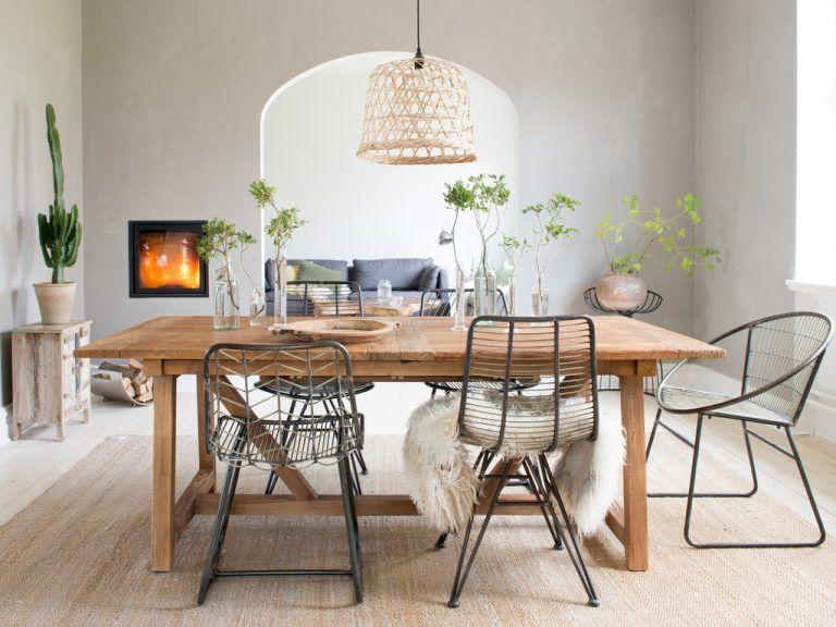 Des idées pour une déco de salle à manger naturelle Table salle à