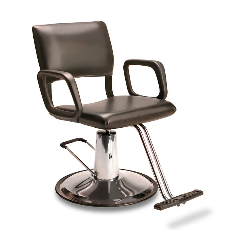 """AR-HC-01-B Comfortable, super durable flex steel frame and smooth, clean lines.  Hydraulic chair on round """"B"""" Base."""