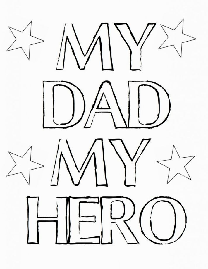 I Love You Daddy Coloring Pages Father S Day Printable Fathers