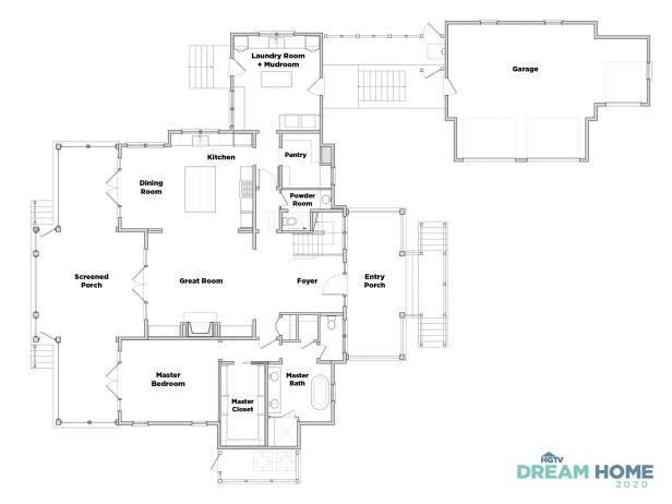 Discover The Floor Plan For Hgtv Dream Home 2020 Hgtv Dream Homes House Floor Plans Floor Plans