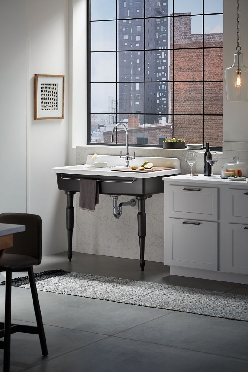 Kohler Farmstead Freestanding Kitchen Sink Kohlersinkkitchen Freestanding Kitchen Free Standing Kitchen Sink Best Kitchen Sinks