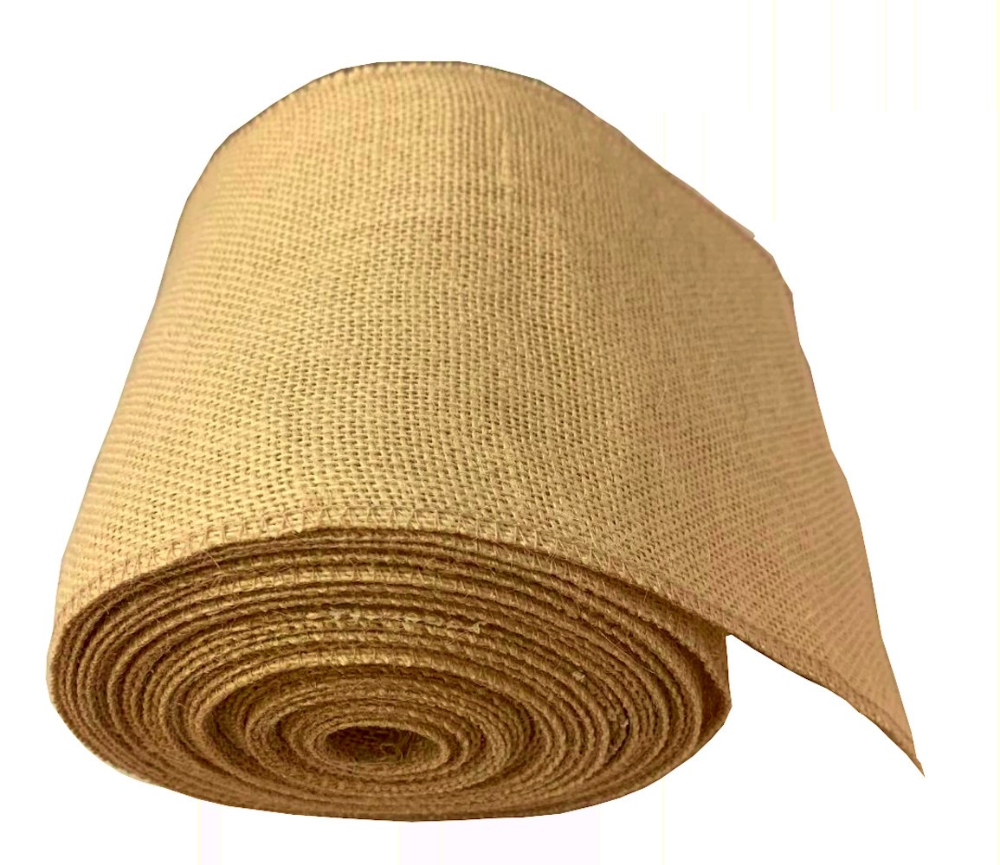 6 Florida Sand Burlap Ribbon 10 Yards Serged In 2020 Colored Burlap Burlap Ribbon Burlap