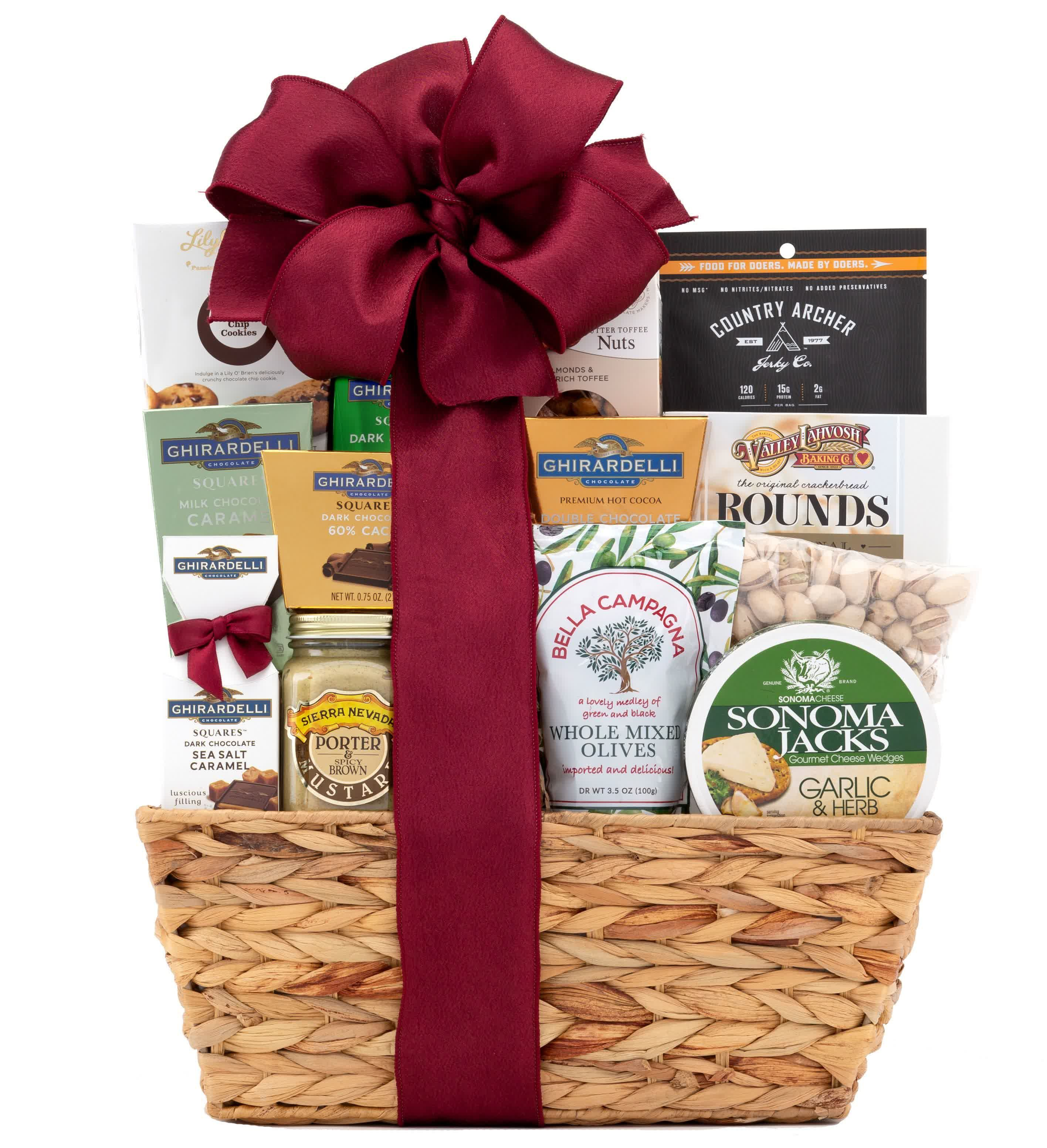 Classic Gourmet Gift Basket Wine Com In 2020 Gourmet Gift Baskets Wine Com Chocolate Chip Cookies