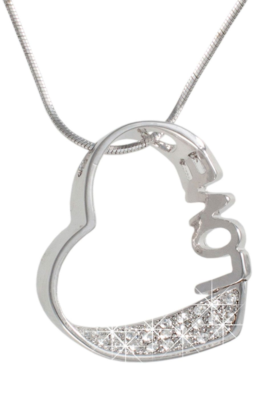 LOVE-Heart Necklace In Silver.