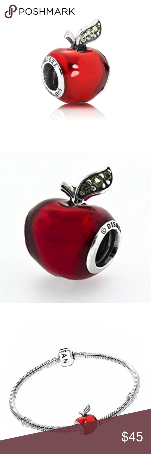 Pandora Disney Snow White's Apple Charm Pandora disney
