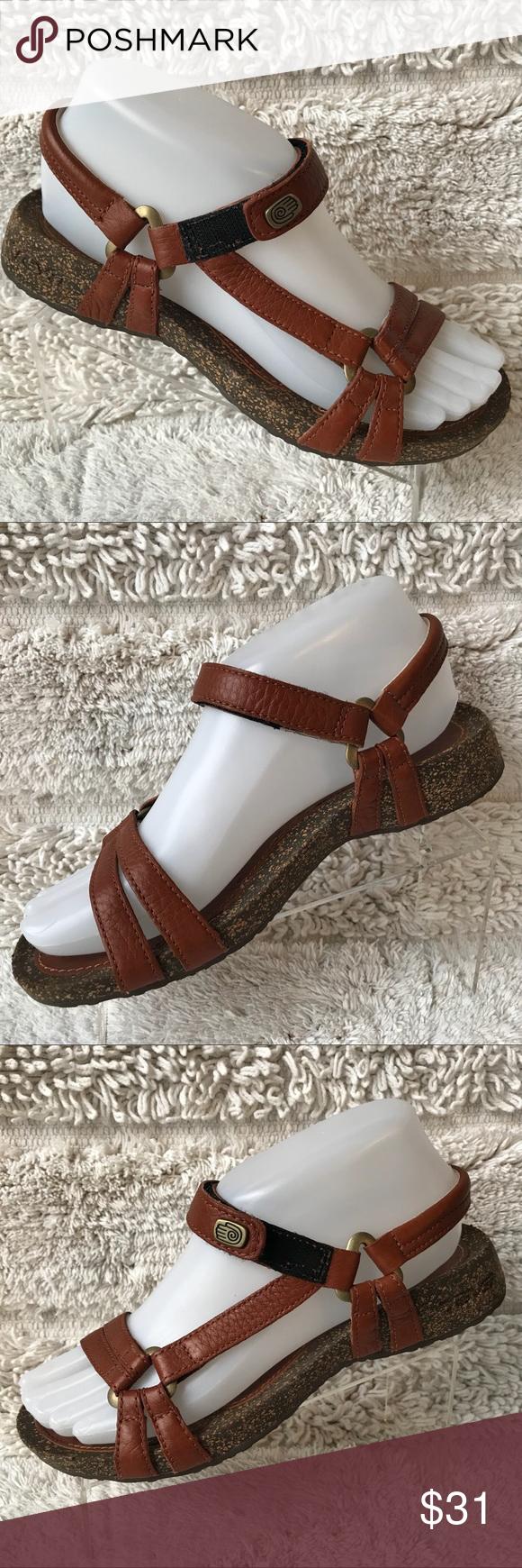 db15aa35f Strappy adjustable cork wedge sandals comply TEVA Ventura 6510 brown Cork  Adjustable Strappy Sandals Shoes Womens US S 6 EU37 Teva Shoes Sandals
