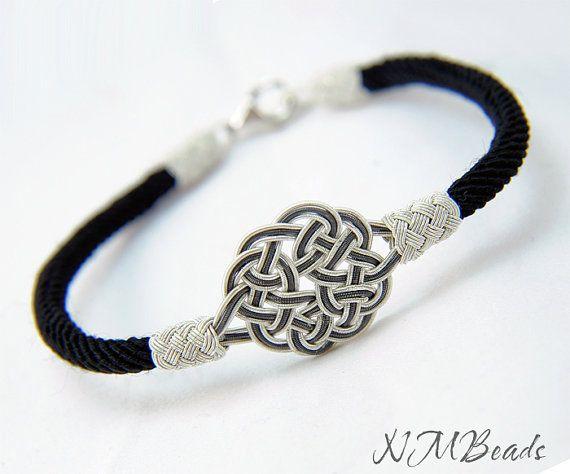 ooak fine silver celtic sun knot rope bracelet bangle. Black Bedroom Furniture Sets. Home Design Ideas