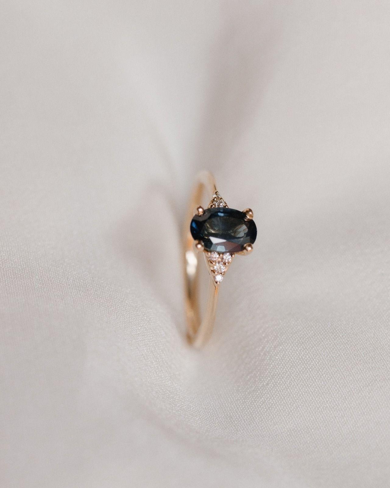 Juniper Ring in 2020 Vintage diamond wedding bands, Teal