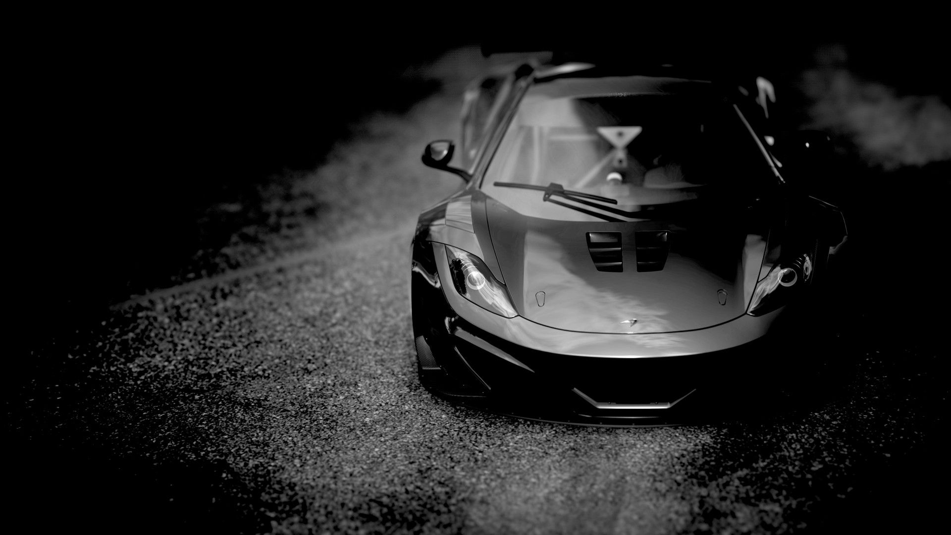 Black And White Cars Grayscale Monochrome Mclaren Mp4 12c Mp4 12c