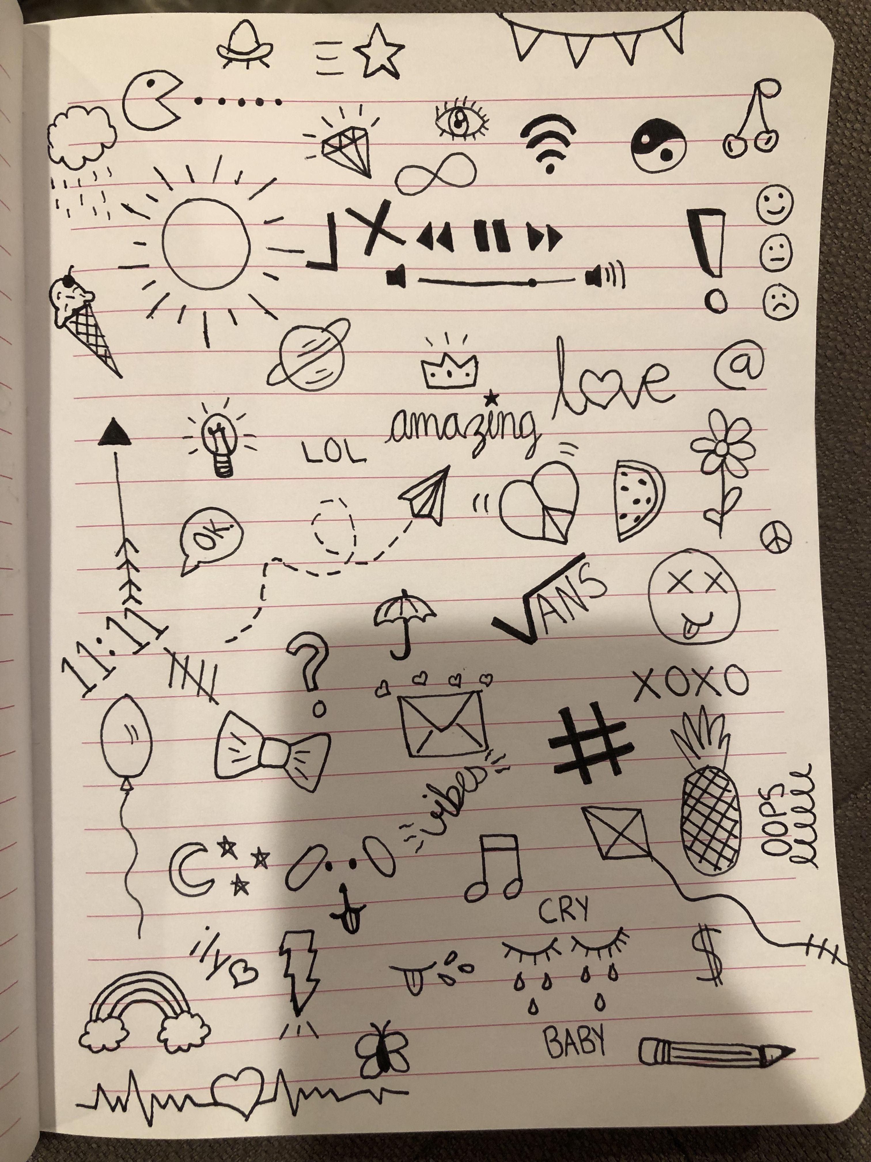Doodle Page By Me Doodle Pages Mini Drawings Doodle Art Journals