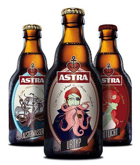 Astra Redesign Beer Bottle Design Beer Packaging Design Beer Label Design
