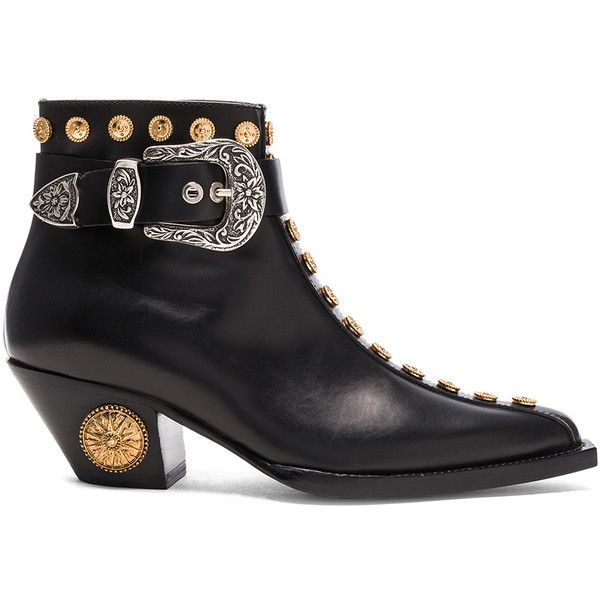 FAUSTO PUGLISI Studded Leather Booties in . yYnrOnteBk
