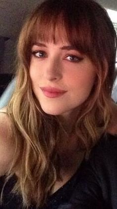 Dakota Johnson as Anastasia in Fifty Shades of Grey, the