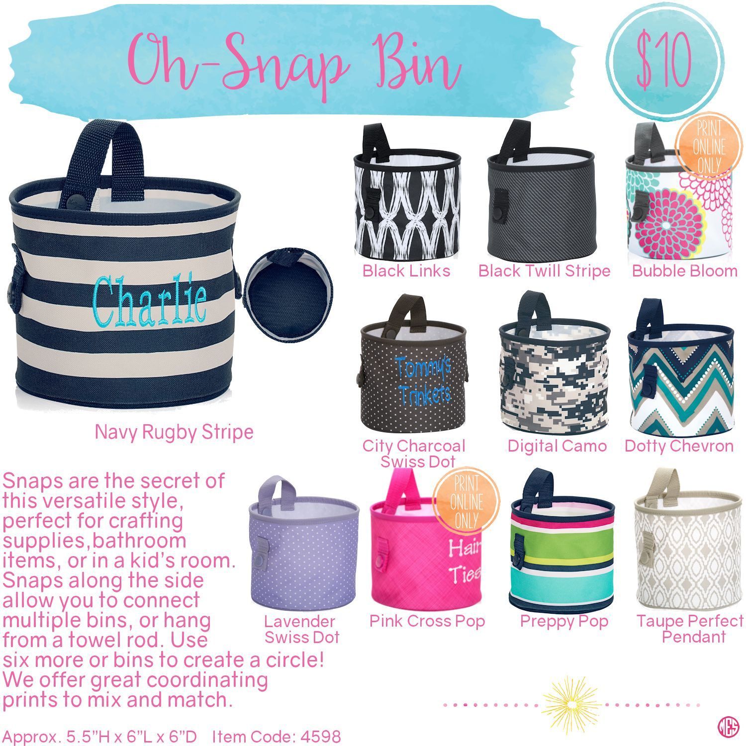 Oh snap bin ideas - Oh Snap Bin By Thirty One Spring Summer 2016 Click To