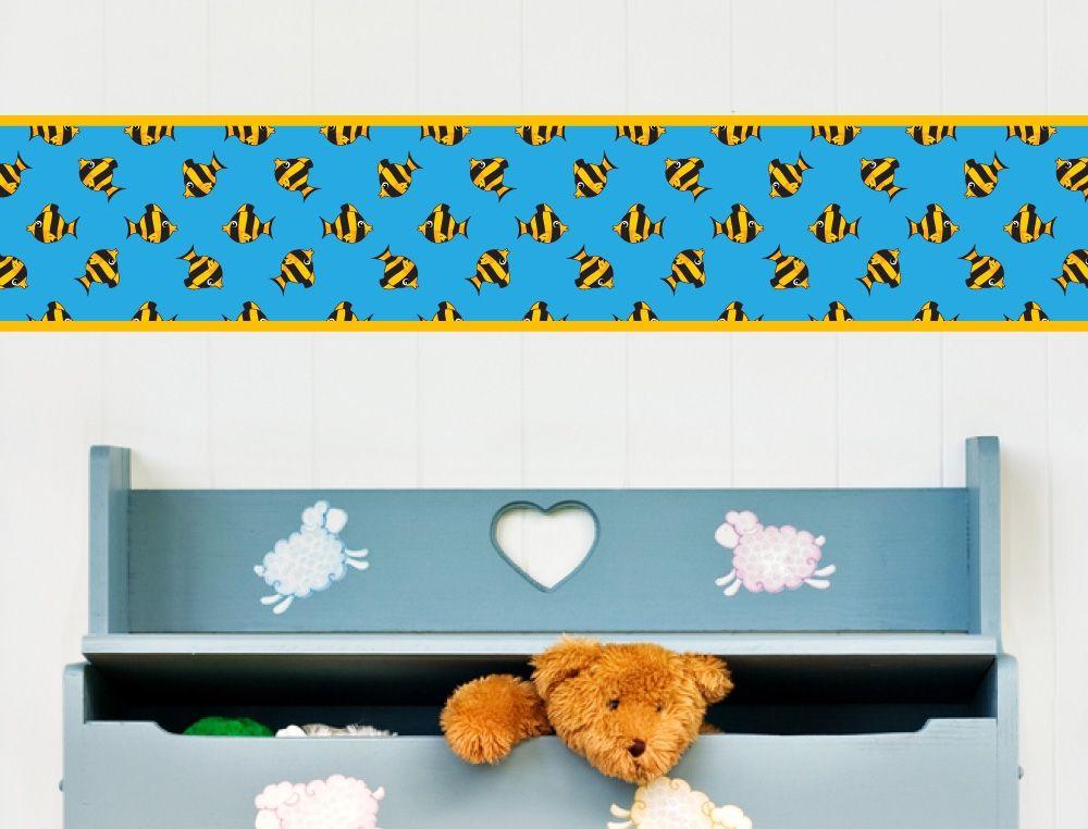 Bordüre mit Fisch für Kinderzimmer - I-love-Wandtattoo.de ...