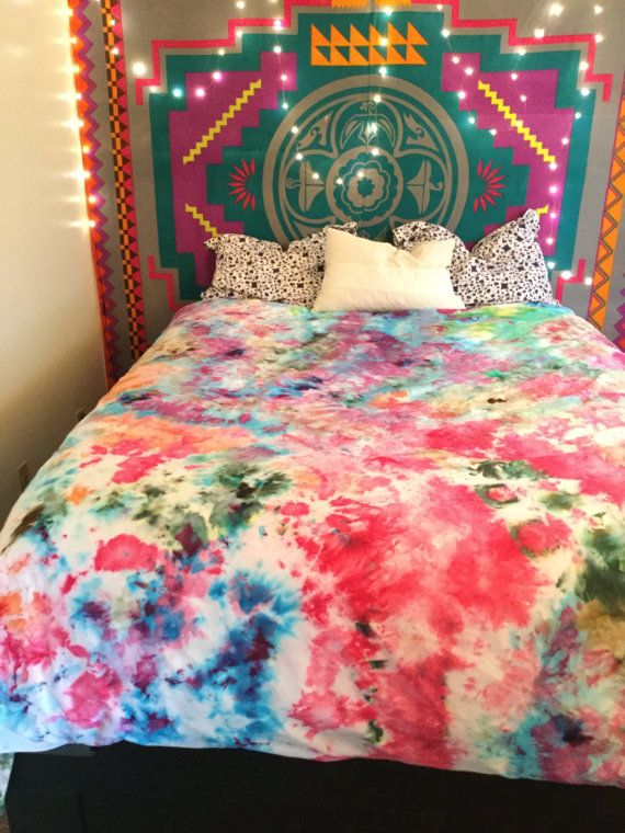 52eeac507f88da Tie dye duvet cover colorful bright duvet cover by MomosRainbows. Find this  Pin and more on DIY ...