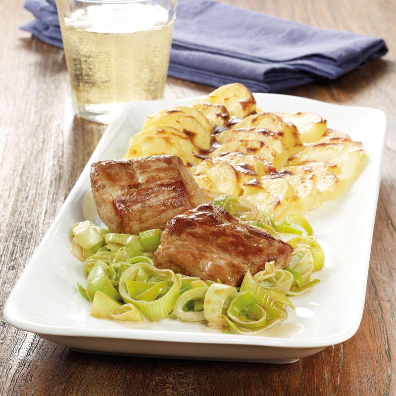 Kartoffelgratin mit Schweinemedaillons Rezept | WW Deutschland