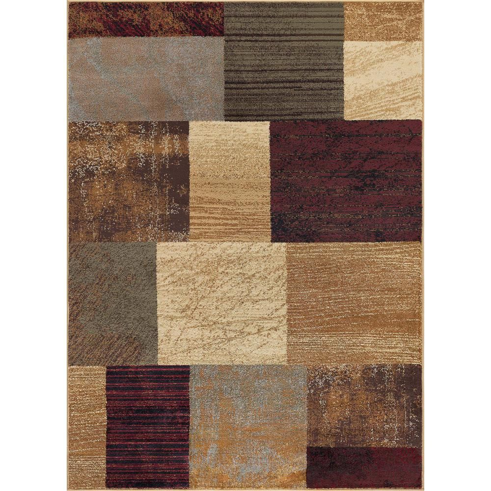 Tayse Rugs Elegance Multi 8 Ft X 10 Ft Contemporary Area Rug Multi Color Contemporary Area Rugs Area Rugs Rugs