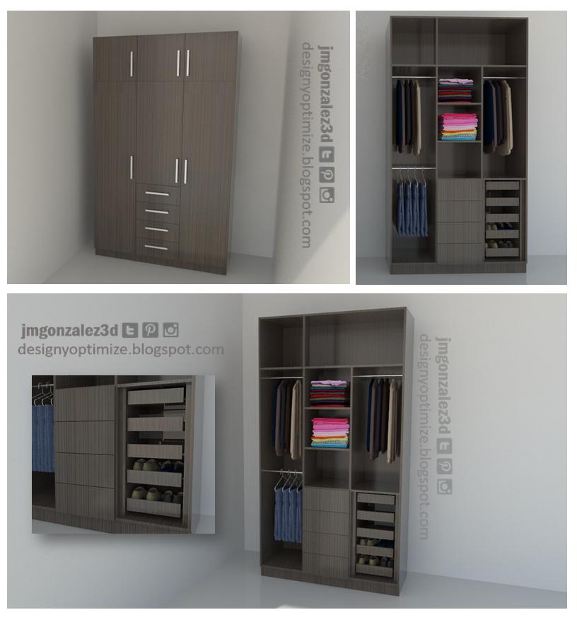 Diseño De Muebles Madera: Crear Armario - Closet - Placard Con ...